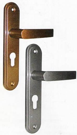 Дверная ручка на планке для врезных цилиндровых замков ЗВ4 401.0.0 и